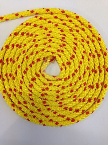 Kingfisher  Yellow Floating Polypropylene Rope 8 Plait 8mm diameter Metre Canoeing